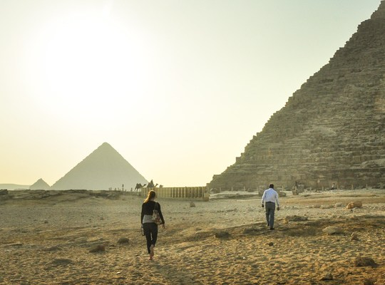 En direction des pyramides egyptiennes