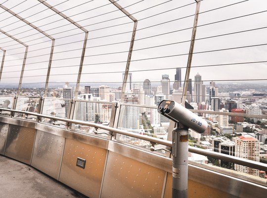 En haut du Space Needle