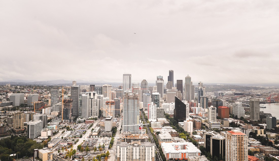 Skyline de Seattle depuis Space Needle