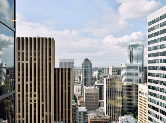 Vue depuis le starbucks de la Columbia Tower Seattle