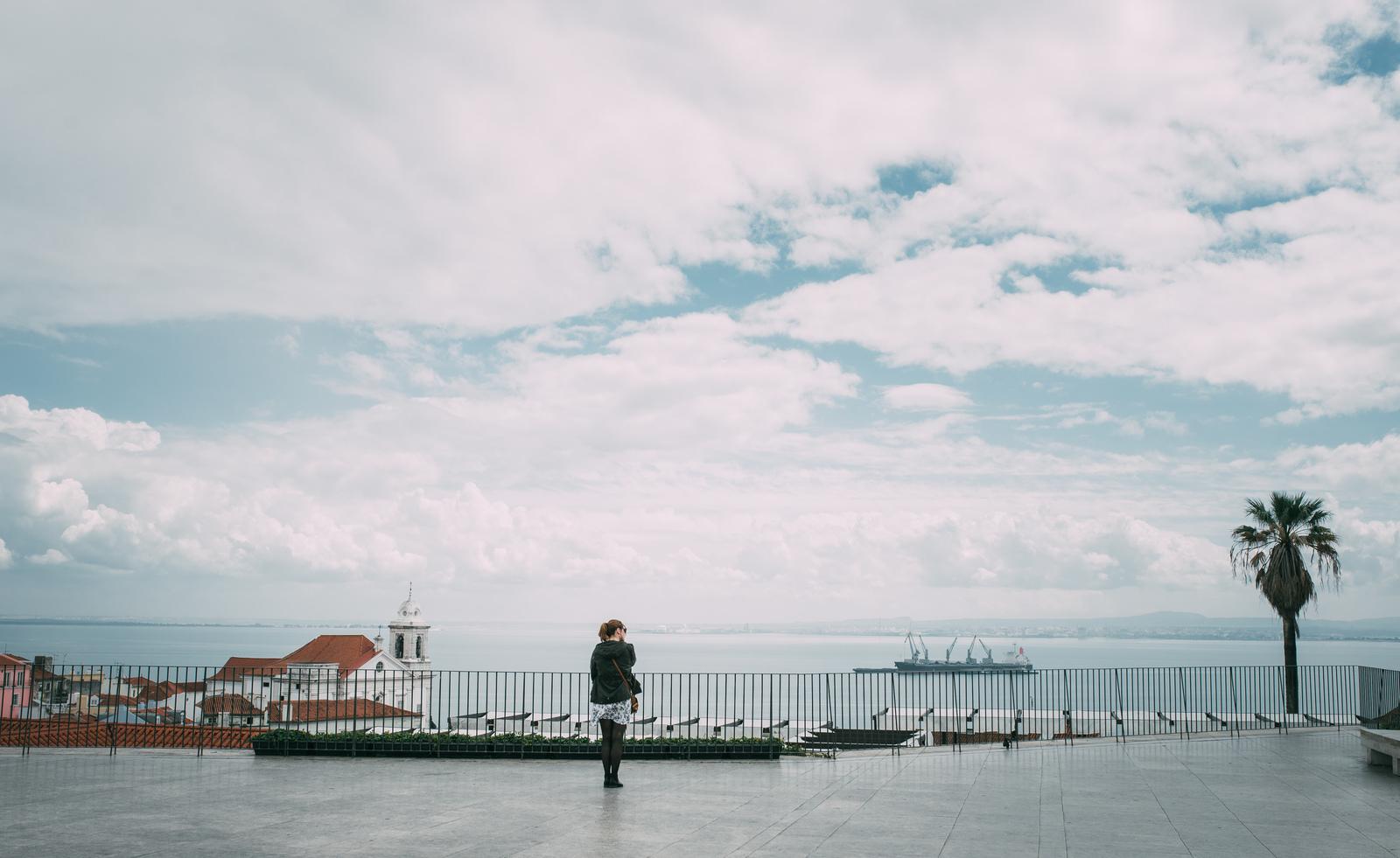 Vue depuis Largo das Porta do Sol Lisbonne