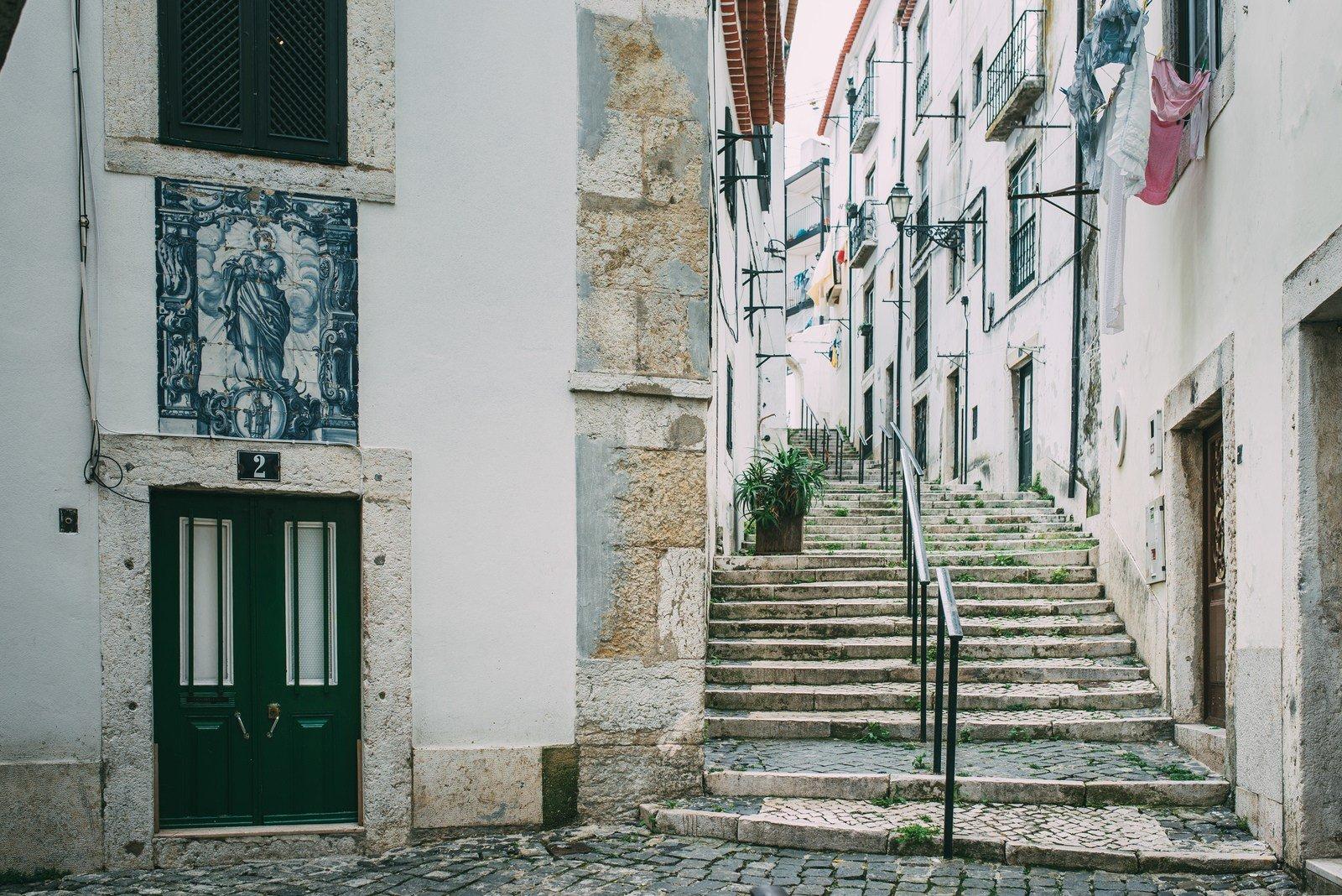 Beco de l'Alfama Lisbonne