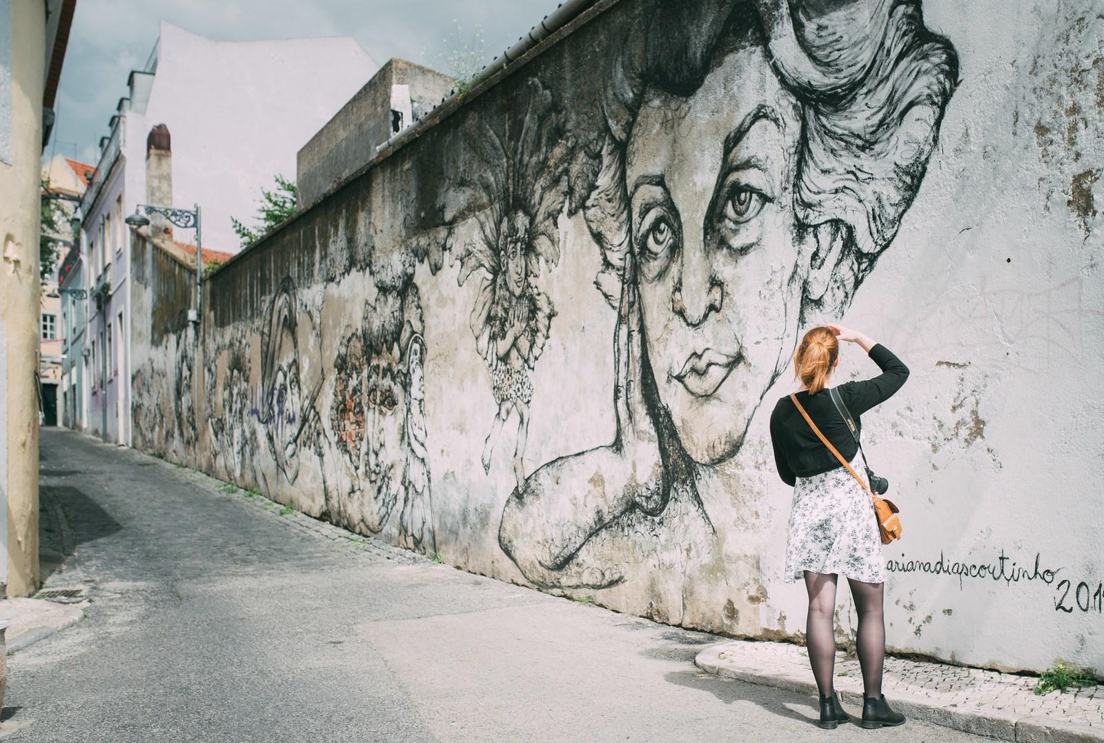 Street art du quartier de Graça Lisbonne