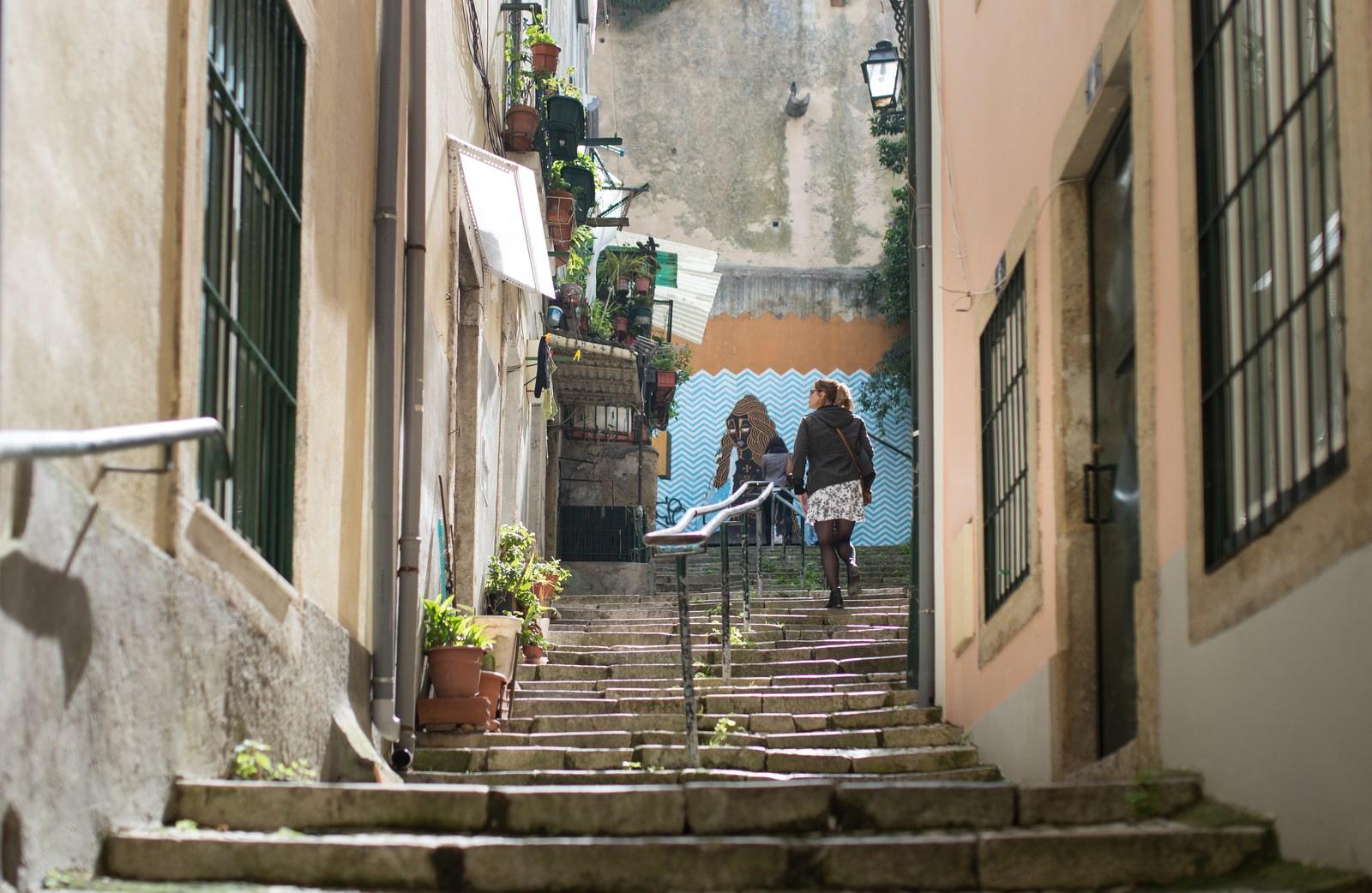 Se perdre dans les escaliers Lisbonne