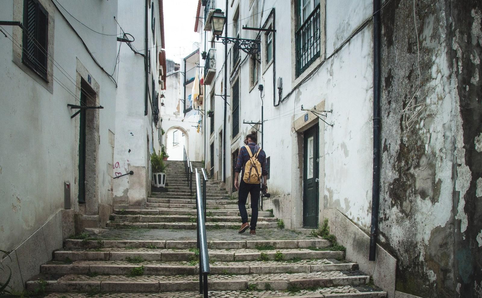Un des nombreux escaliers Lisbonne
