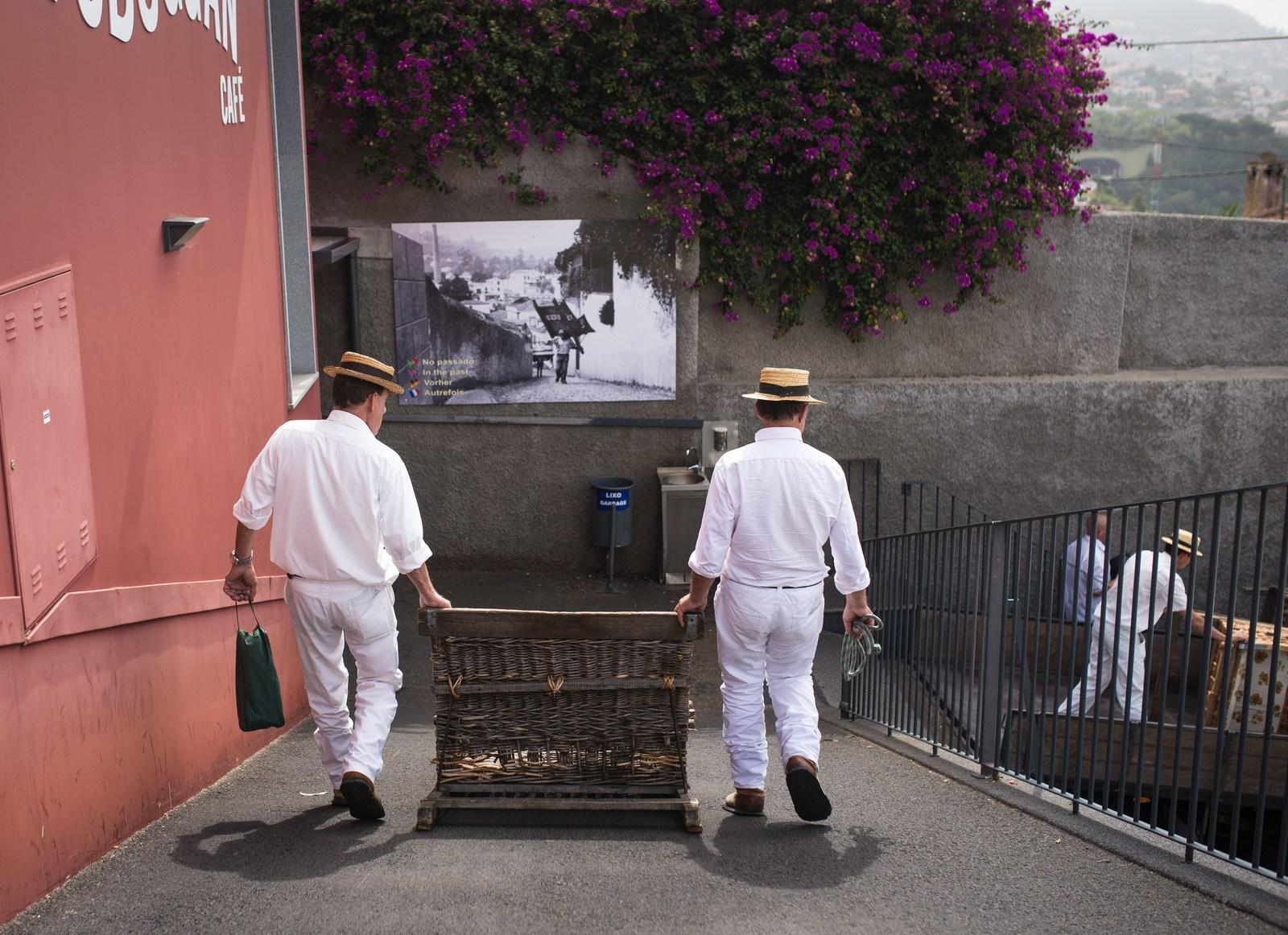 Panier Osier Funchal : Descente en panier osier funchal au portugal