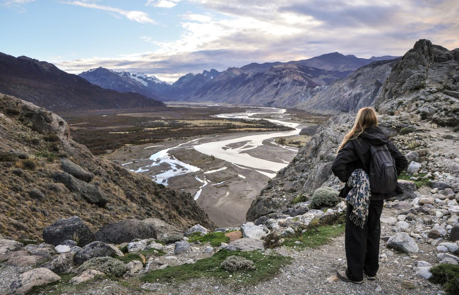 Devant les paysages de Patagonie  El Chaltén