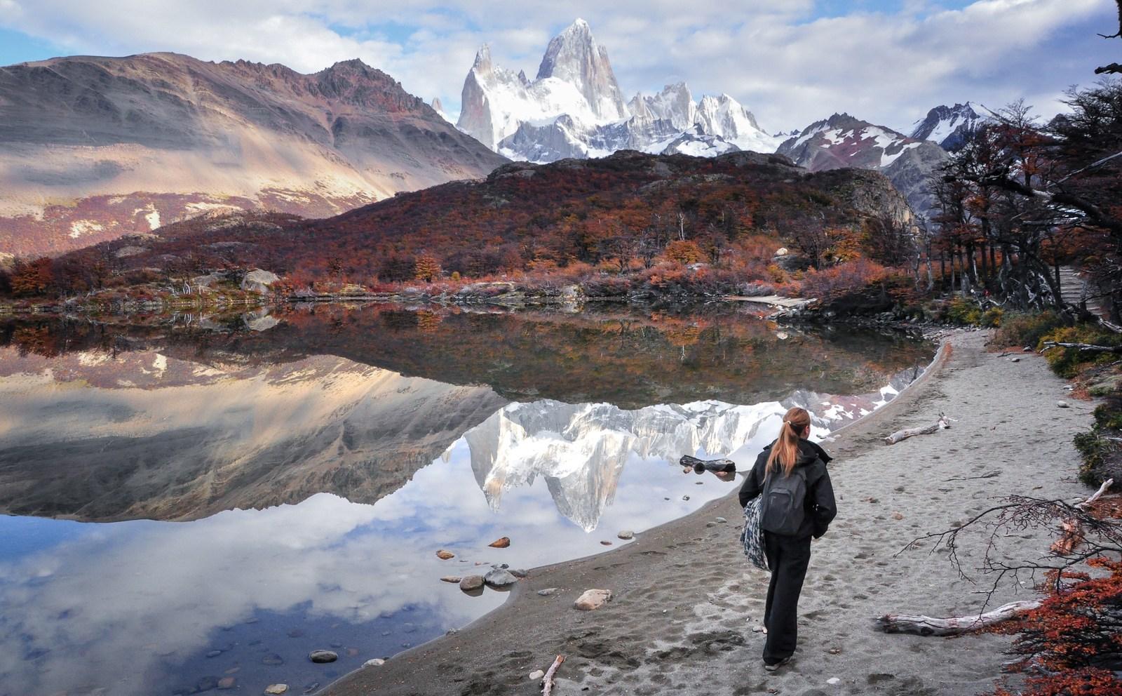 A mi chemin entre El Chalten et Cerro Fitz Roy El Chaltén