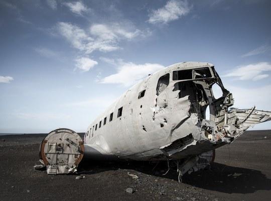 Carcasse de l avion dc3 en islande