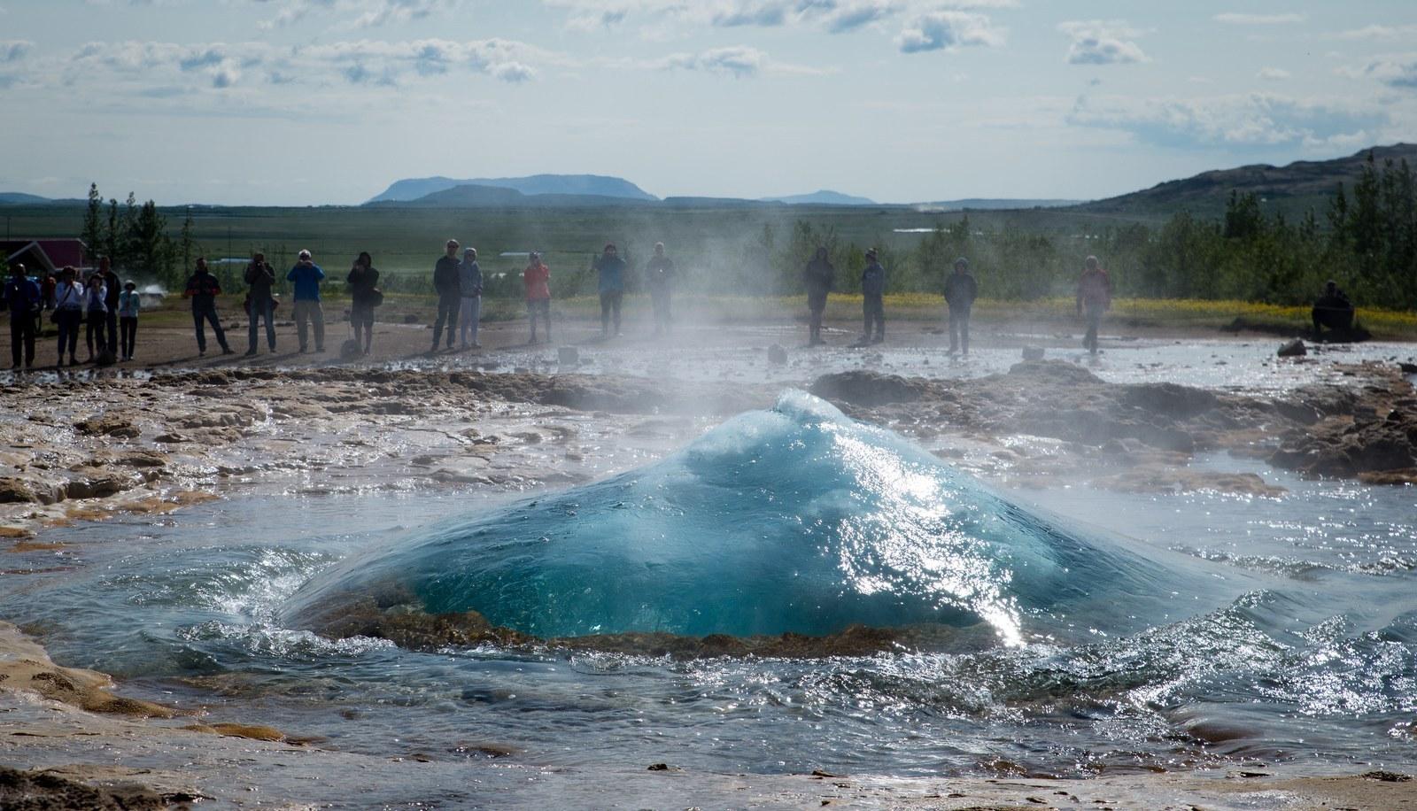 Bulle d'eau de Strokkur Geysir
