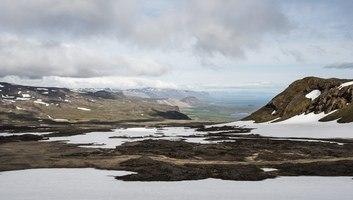 Paysage depuis le glacier