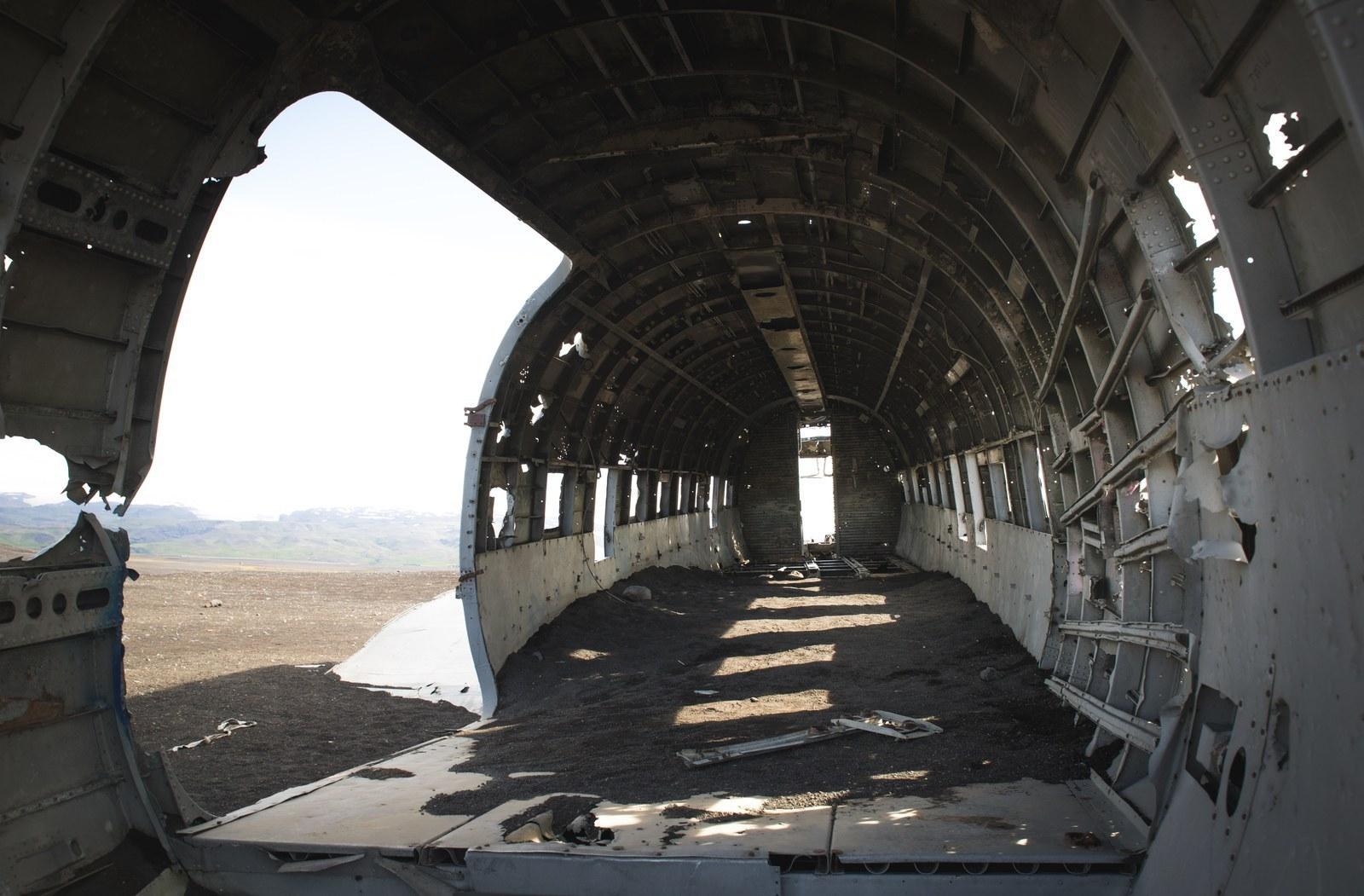 Intérieur de l'avion  Solheimasandur