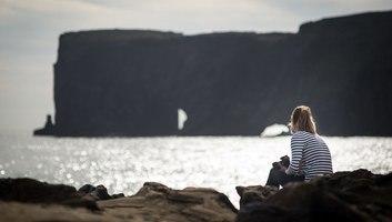 Admirer les falaises de dyrholaey
