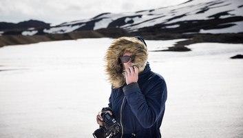 Sur le glacier snaefellsjokull