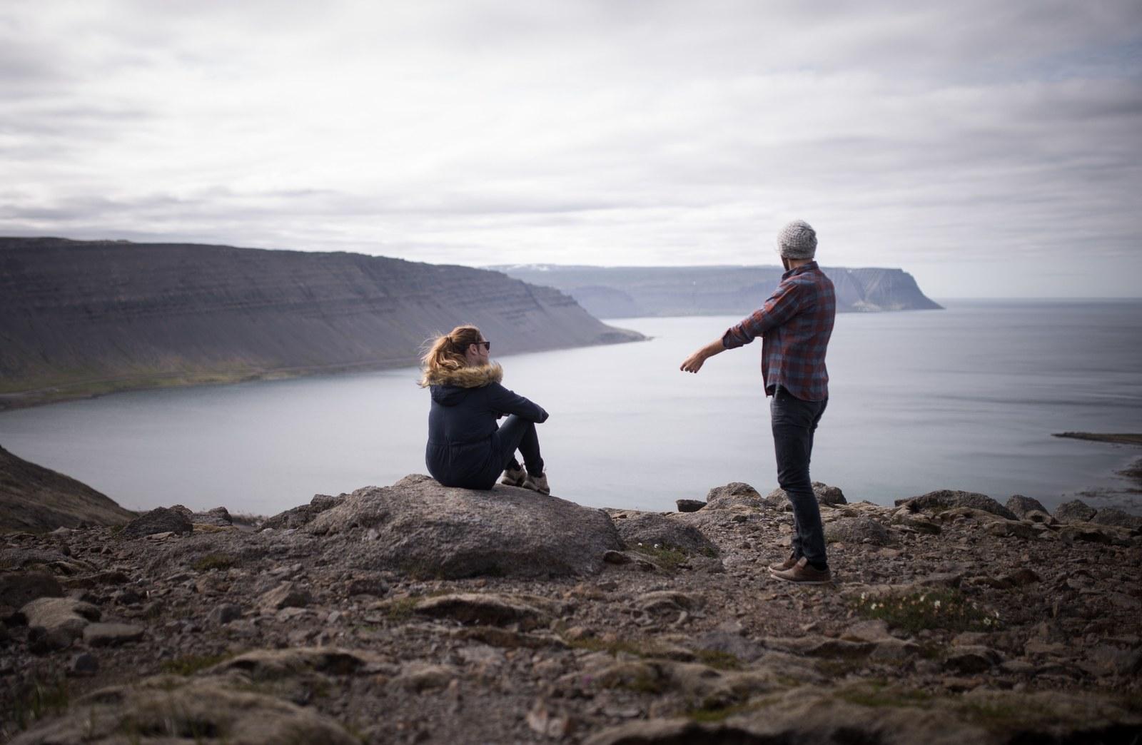 Ensemble dans les fjords Bíldudalsvegur