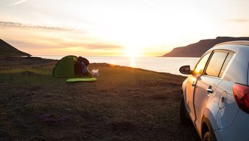 Camper en pleine nature en islande