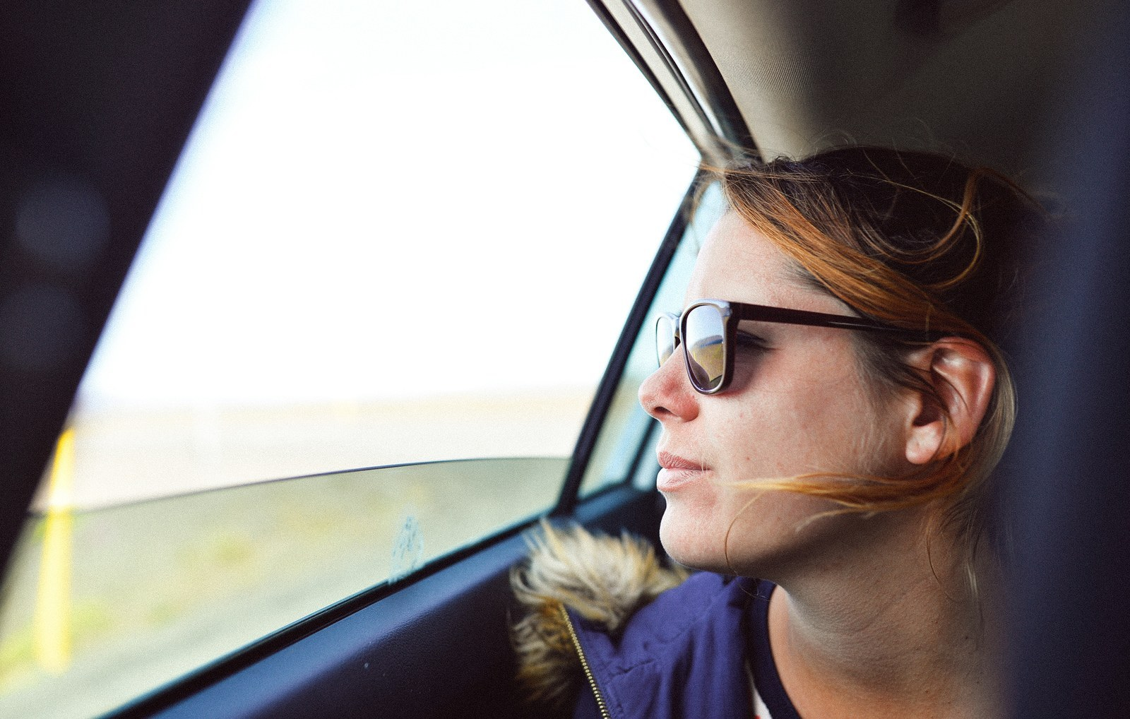 Sur la route. Quelque part en Islande Sur la route