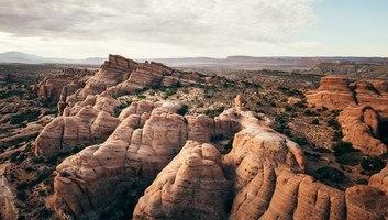 Paysages d arches depuis la montgolfiere