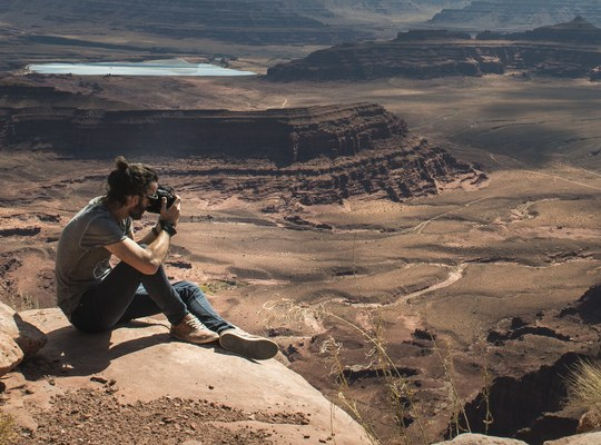 Seb, en train de photographier Canyonlands