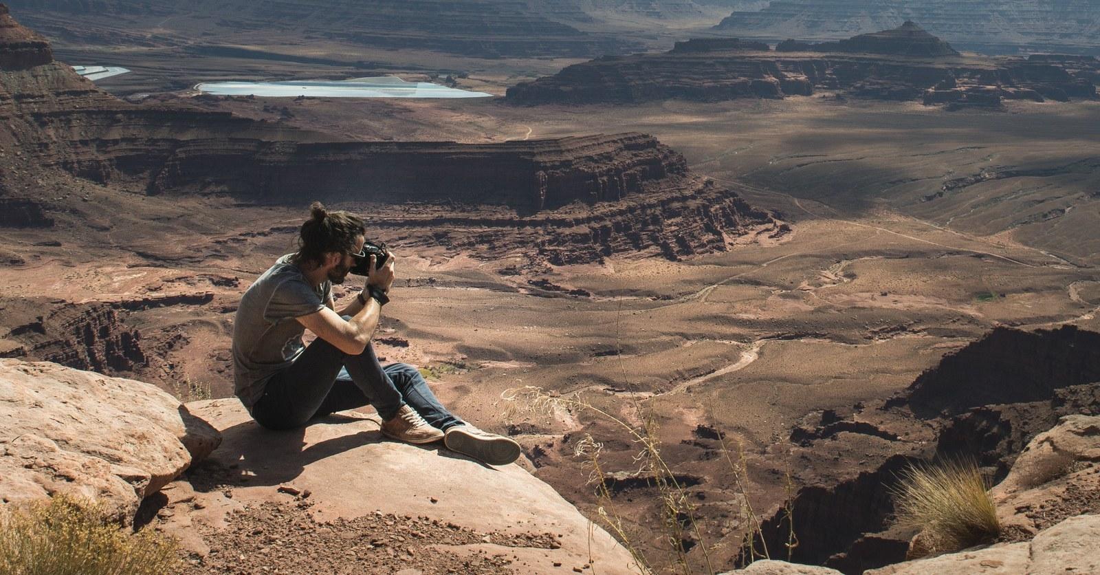 Seb, en train de photographier Canyonlands  Canyonlands