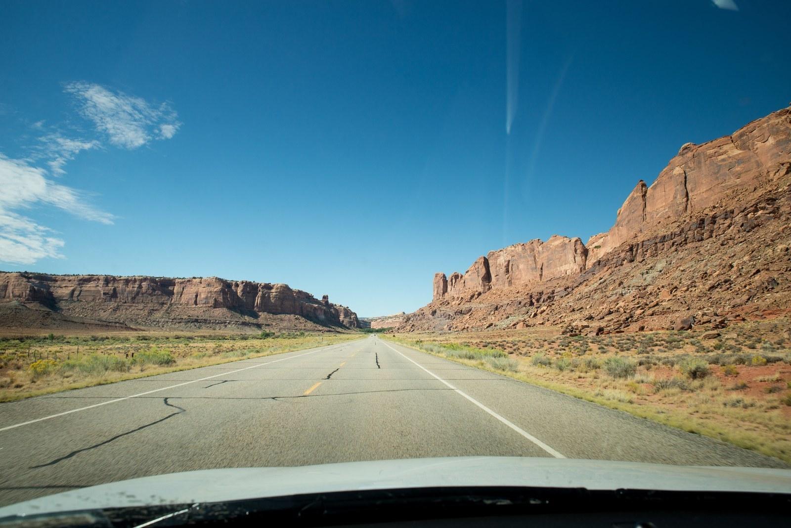 Sur la route de Canyonlands dans l'Utah Canyonlands