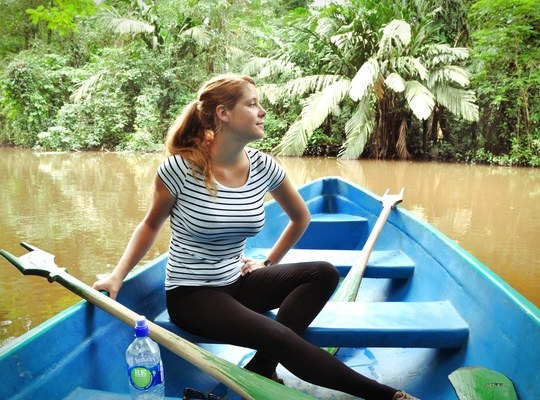 Manue lors de notre excursion au coeur de la jungle