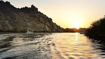 Coucher de soleil sur philae