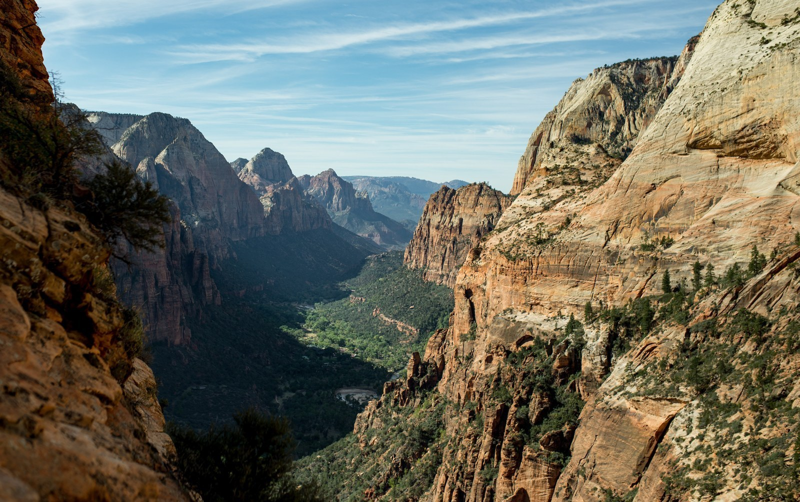 Panorama de Zion National Park Angels Landing Trail
