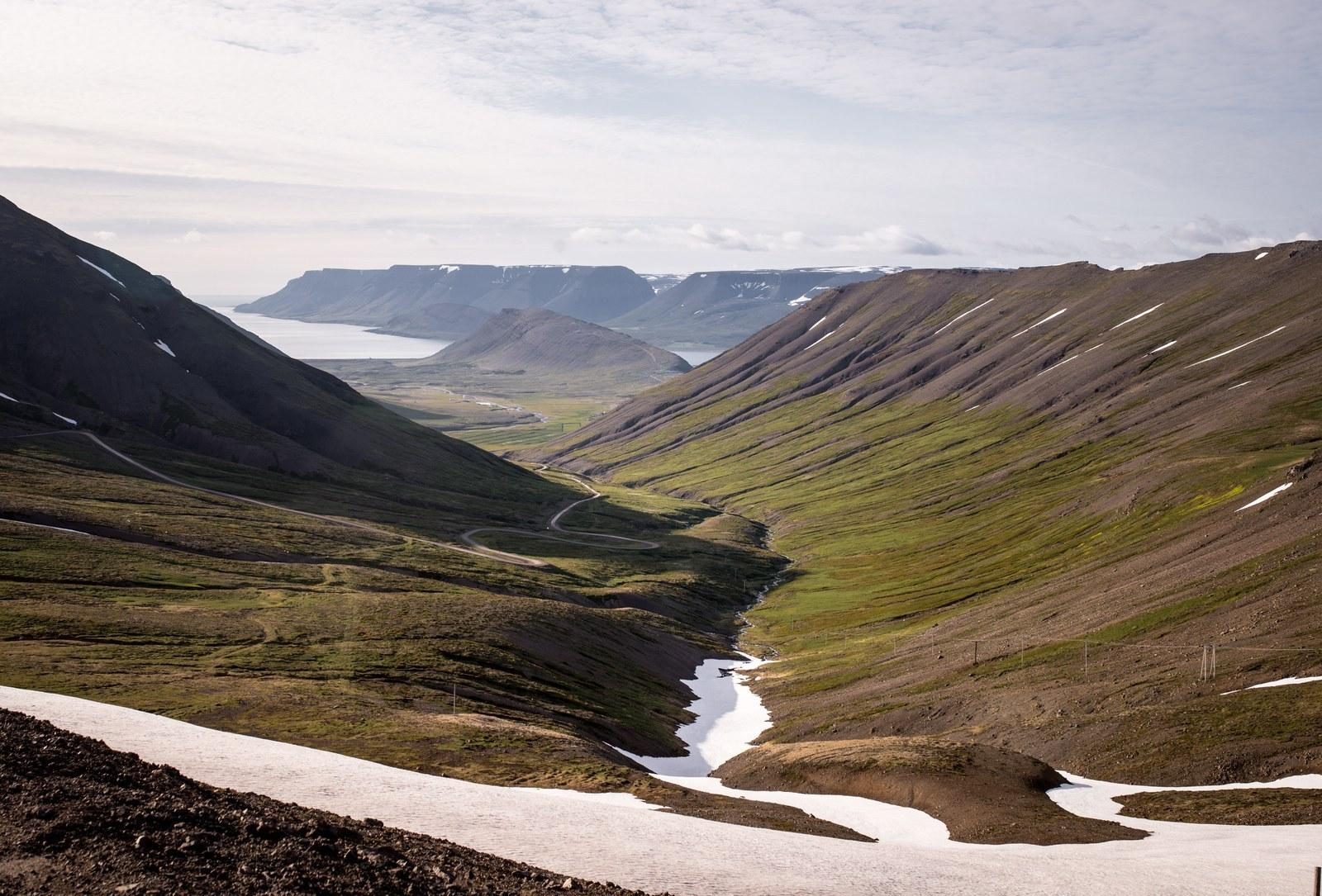 Paysage de fjords  Sur la route