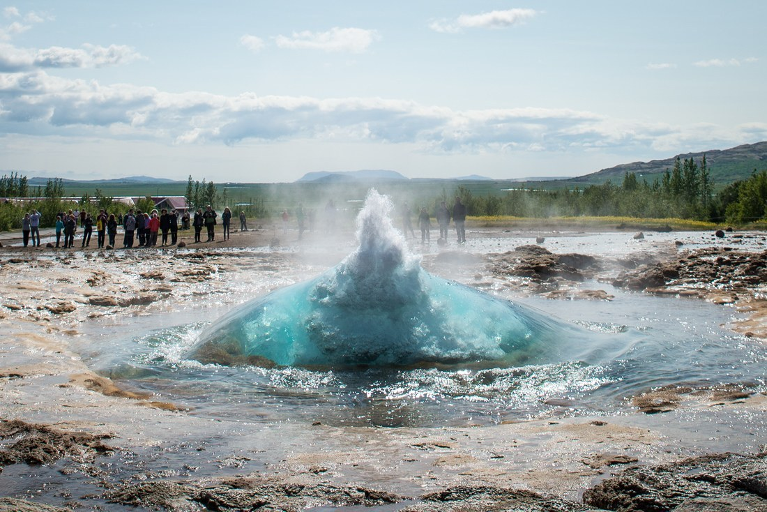 Eruption de Geysir