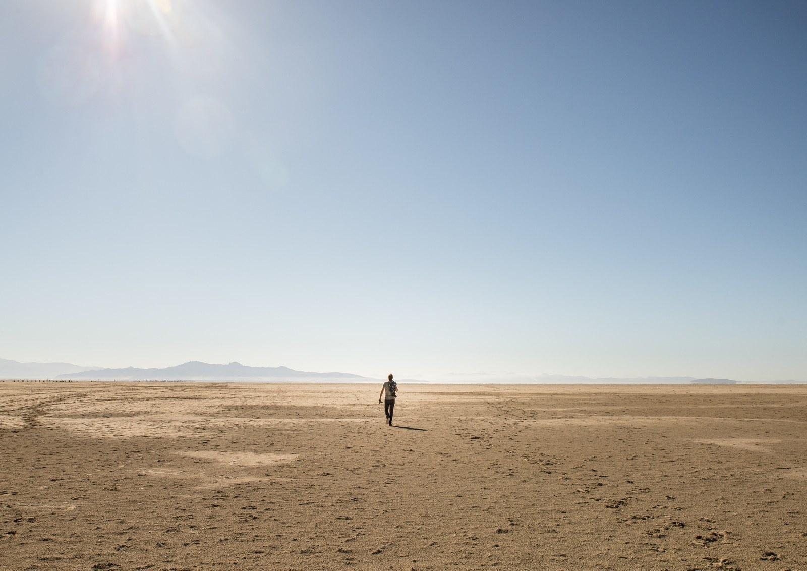 Seul sur la plage  Antelope Island