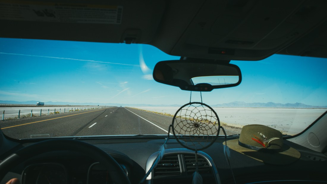 Sur la route entre Salt Lake et Bonneville