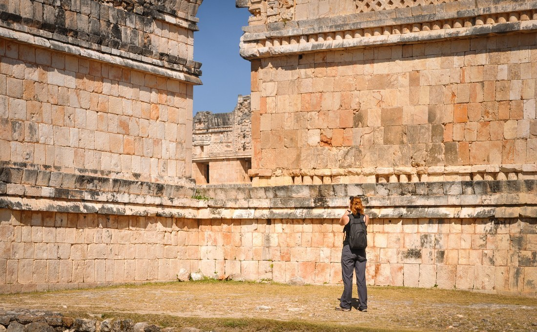 Photographier les ruines d'Uxmal