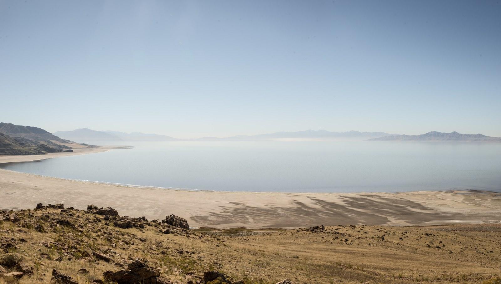 Plages de sables à Antelop Antelope Island