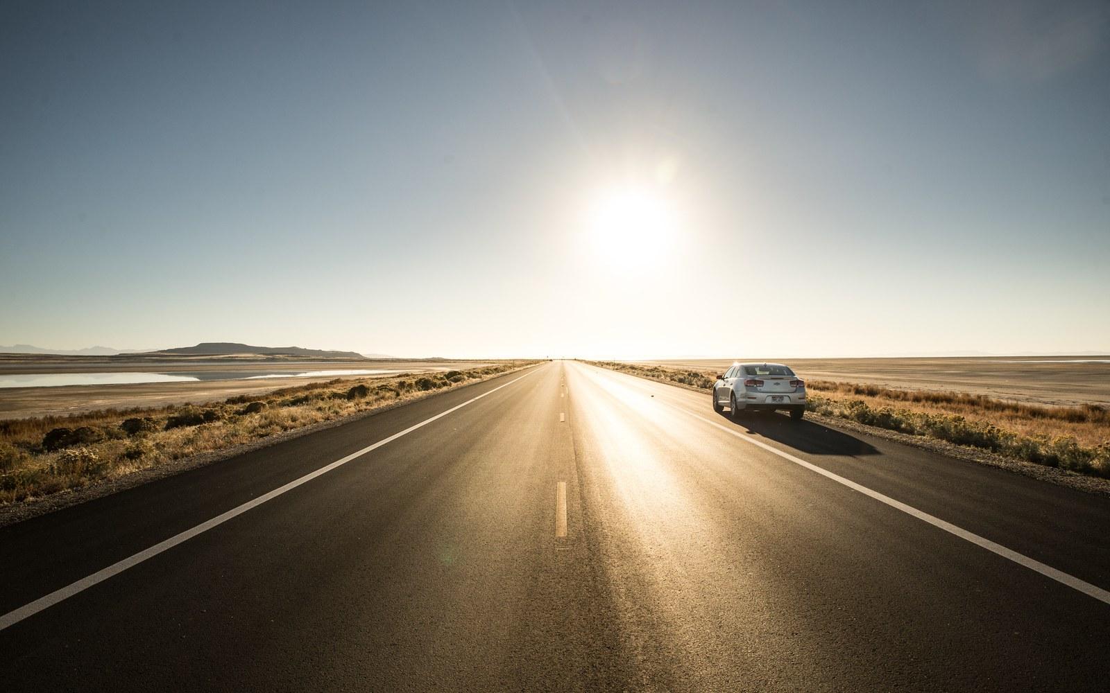 La superbe route vers Antelope Island Antelope Island