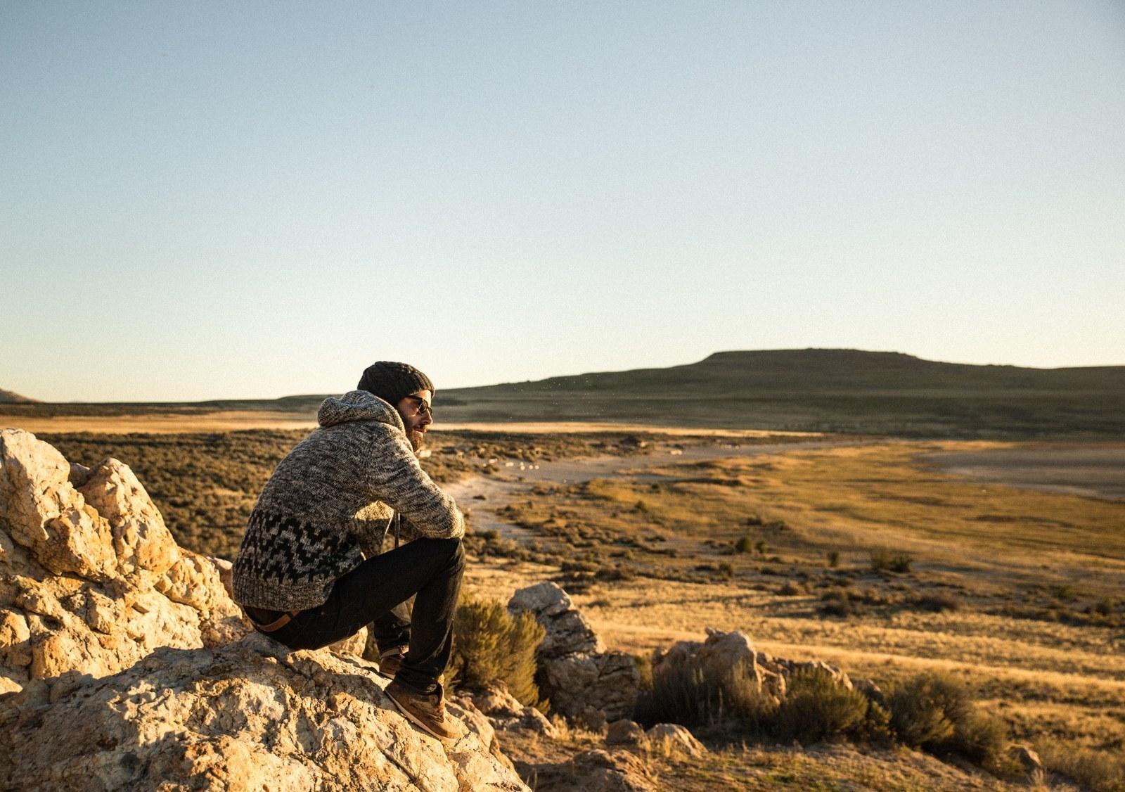 Petit moment détente avec un coucher de soleil Antelope Island