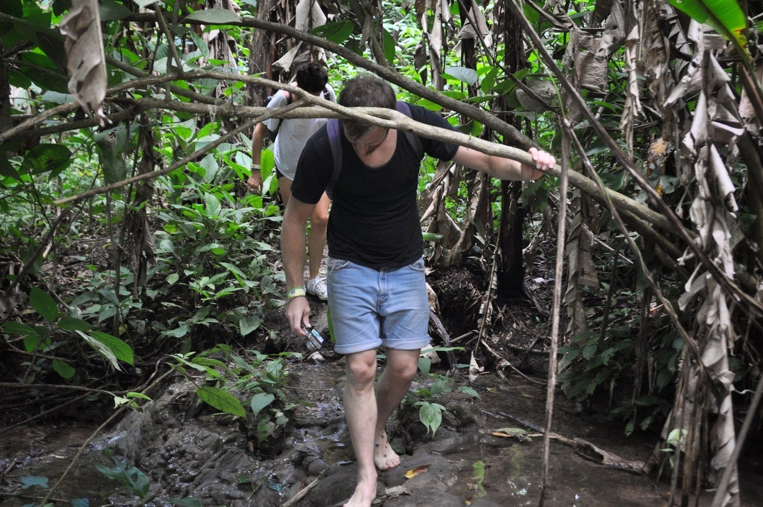 Barefoot in jungle