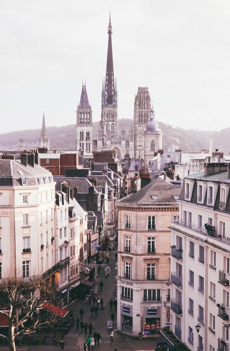 Vue sur les toits de Rouen Rouen