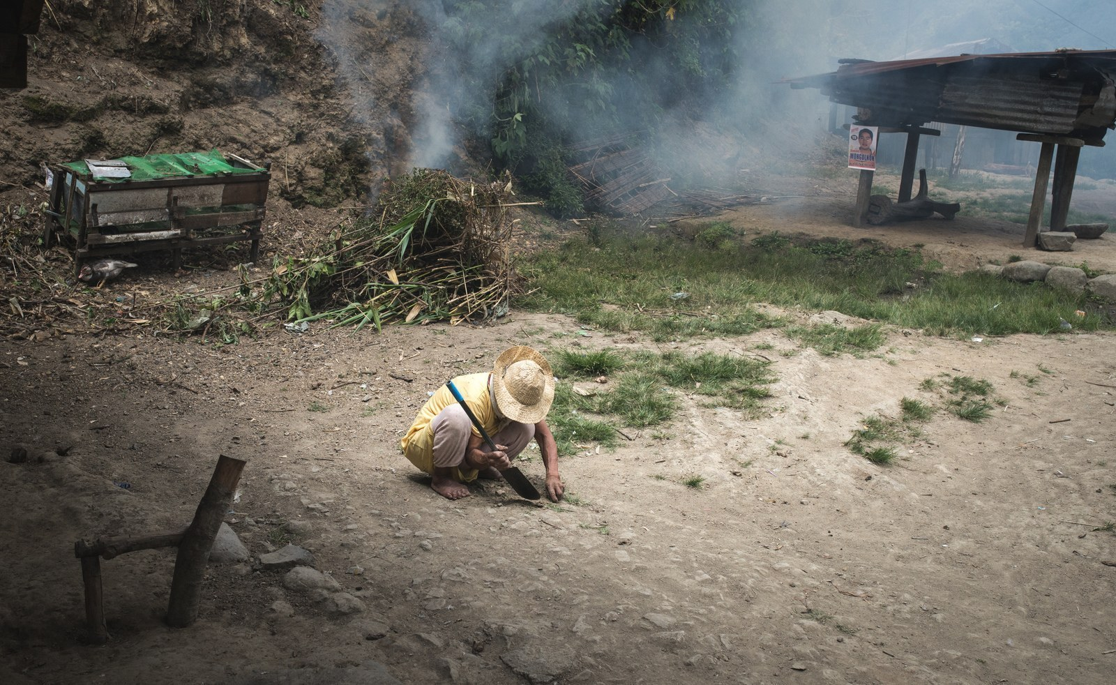 Dans un village entre les rizières