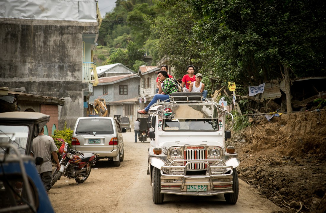 Circulation près de Banaue