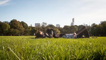 Vue de new york depuis central park