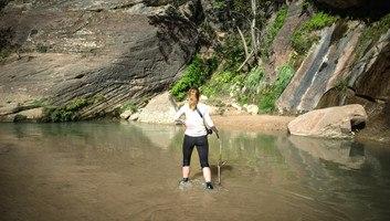 Manue les pieds dans l eau a zion