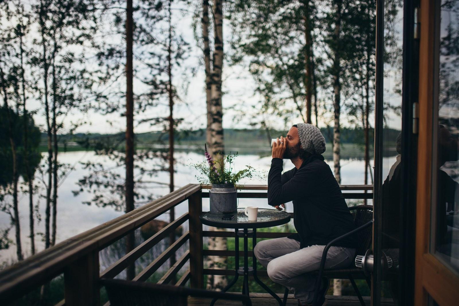 Prendre le temps au bord du lac  Kokkola