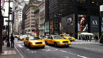 Taxis new yorkais sur la 5eme avenue