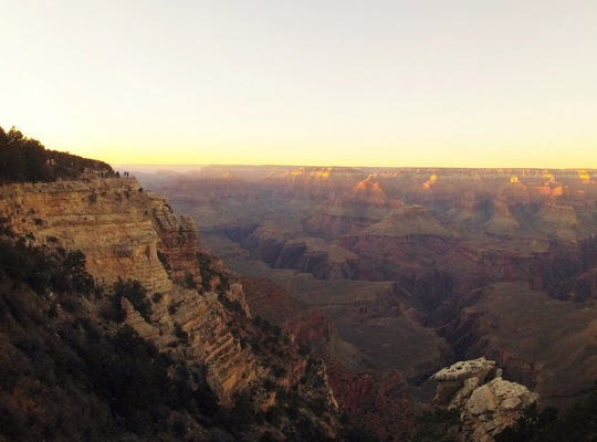 Grand canyon, coucher de soleil