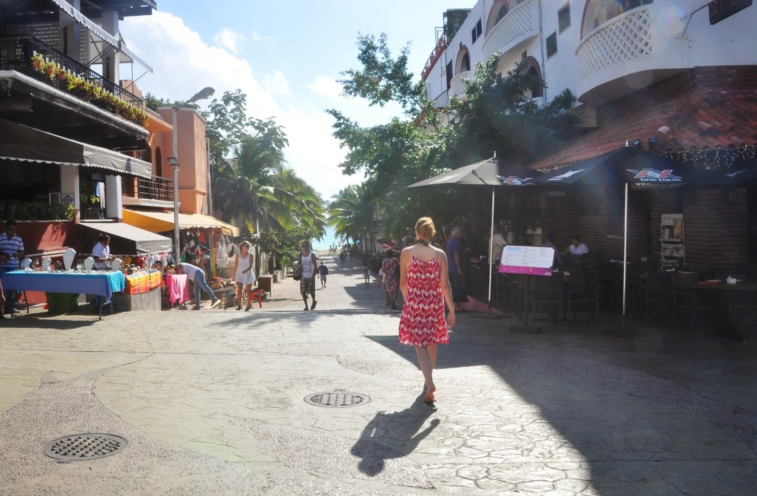 rue de Playa del Carmen, Mexique