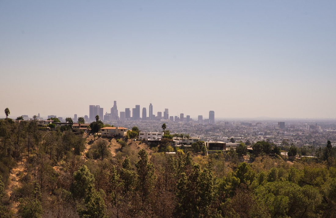 Skyline de Los Angeles depuis Hollywood Hills