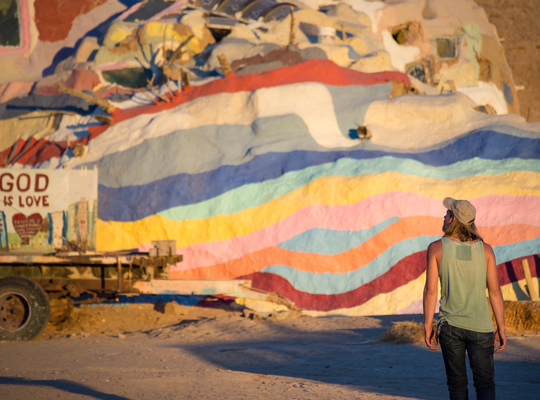 Salvation Mountain quand le jour tombe