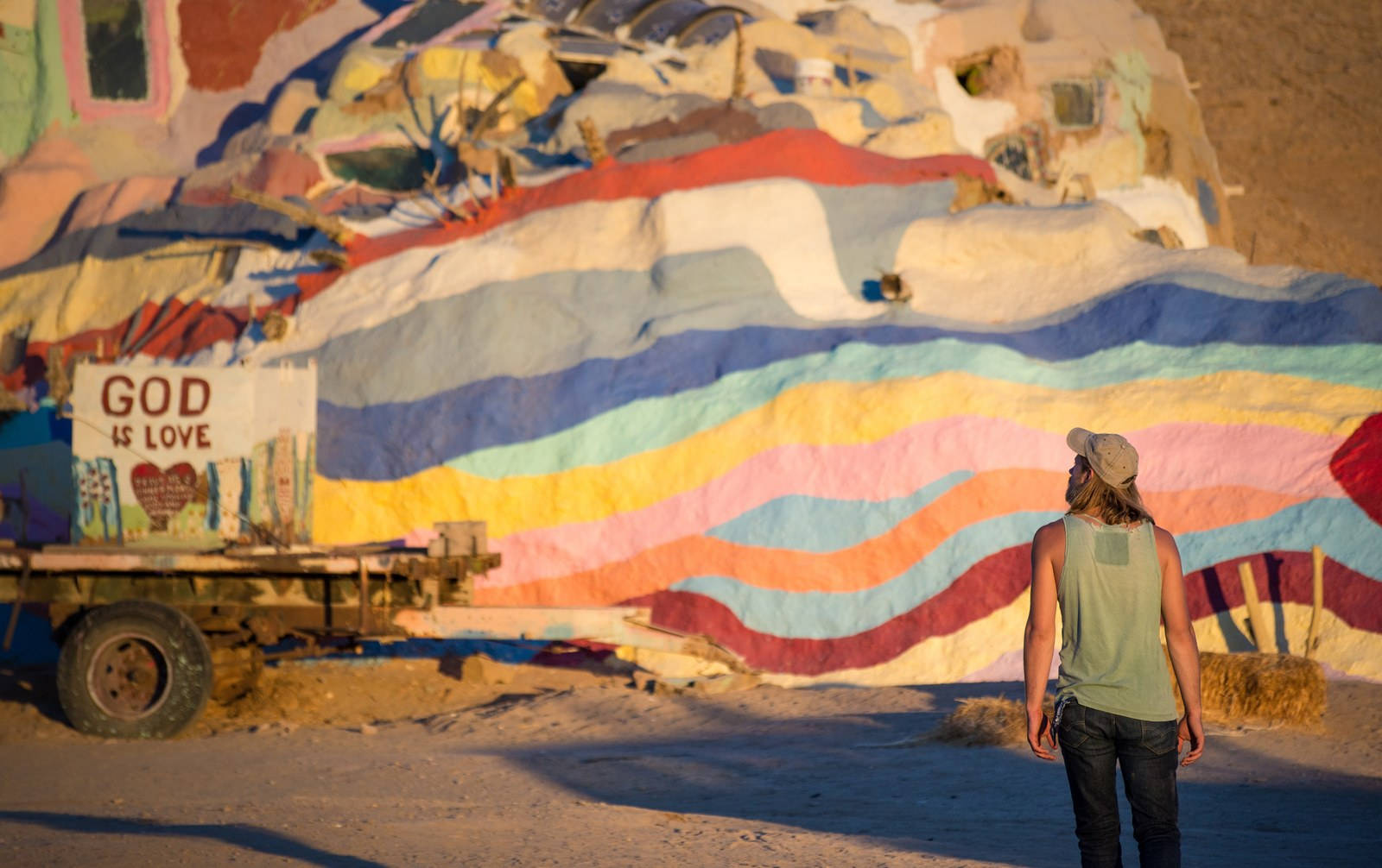 Salvation Mountain quand le jour tombe Salvation Mountain