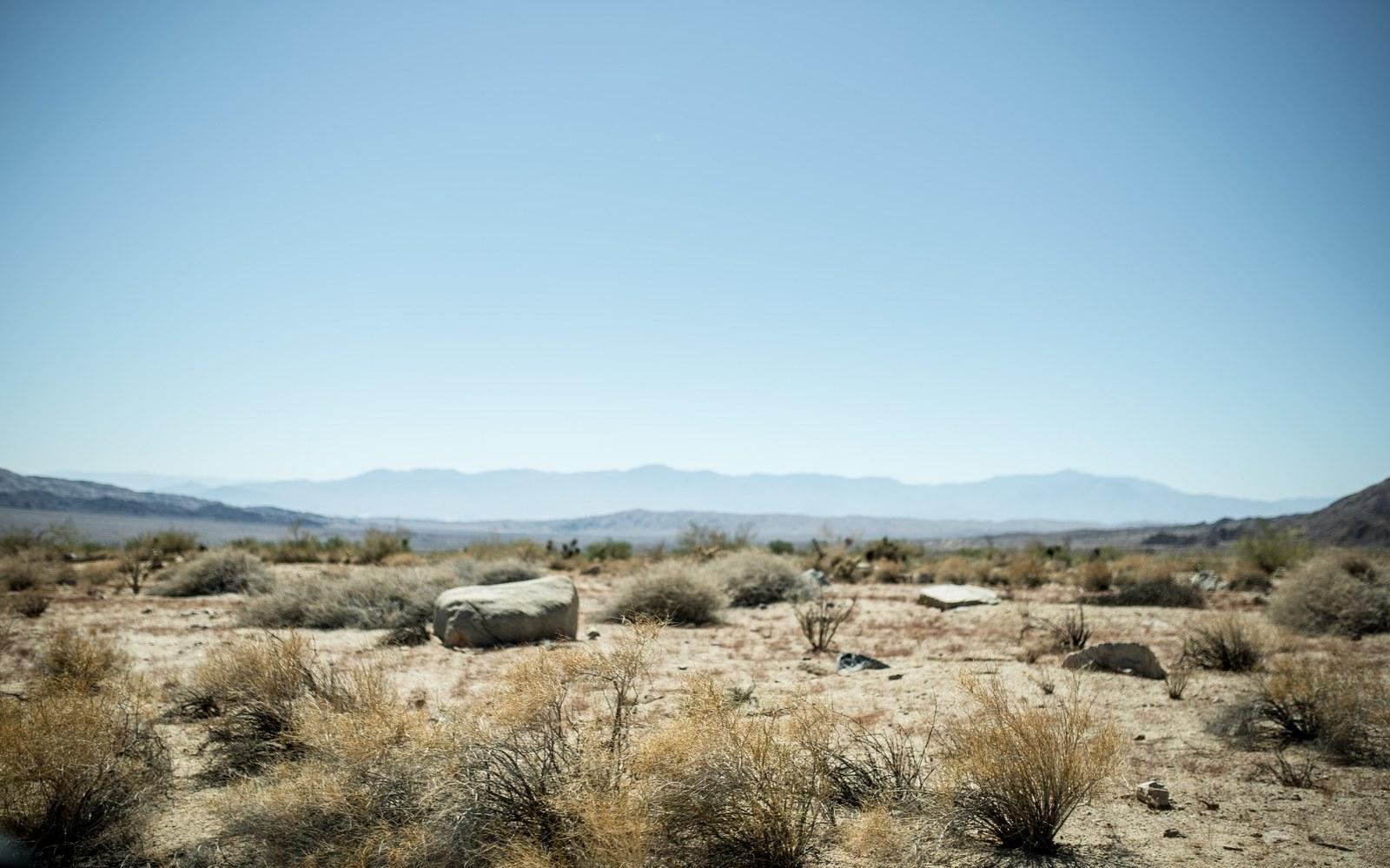 Desert typique du sud de la Californie Salvation Mountain